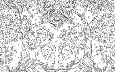 Free Forest Life Coloring Sheet