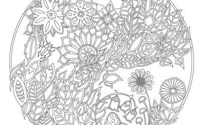 Free Coloring Floral Circle