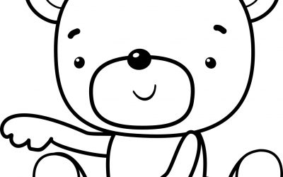 Free Bear Coloring Page for Kids