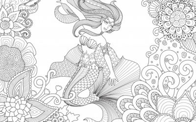 Beautiful Mermaid Free Coloring Page