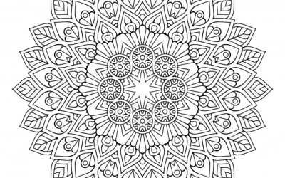 Free Coloring Mandala Sheet