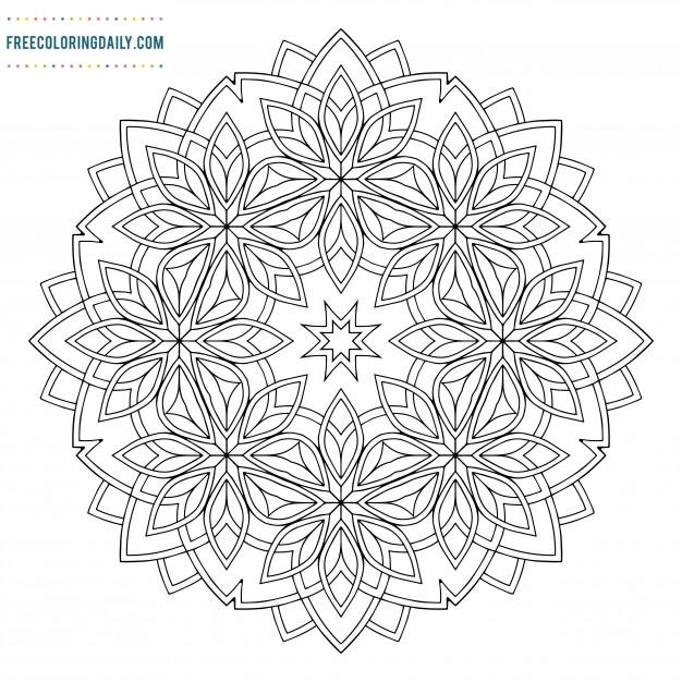 FREE Beautiful Mandala Coloring