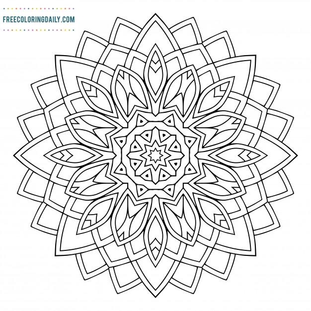 Free Mandala Coloring Sheet