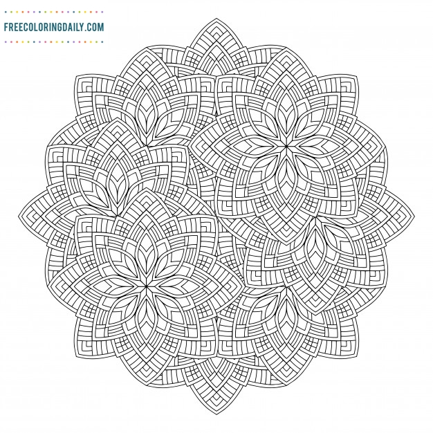 Free Mandala Design Coloring