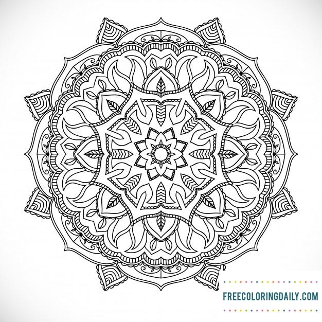 Free Stunning Mandala Design Coloring