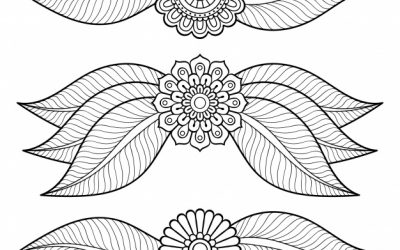 Flowers – Free Coloring Page