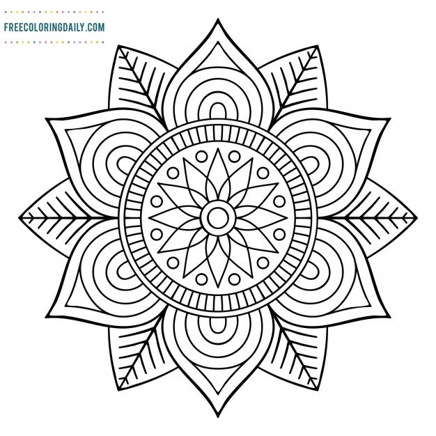 Free Geometric Mandala Coloring