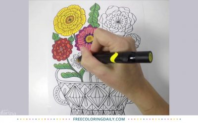 Beautiful Blooms Coloring Time Lapse
