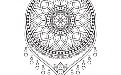 Free Dreamcatcher Mandala Coloring