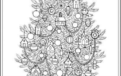 Decorate a Christmas Tree coloring