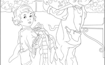 Free Nostalgic Christmas Coloring Page