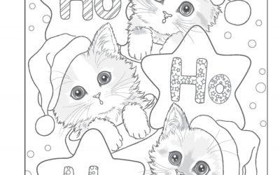 Free Kitty Christmas Coloring