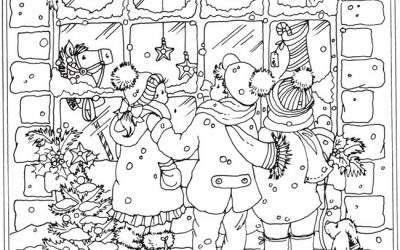 Free Christmas Carolers Coloring