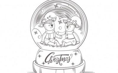 Free Christmas Snowglobe Coloring