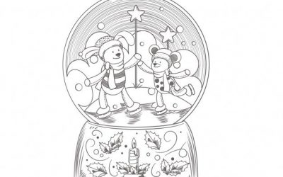 Christmas Snowglobe Free Coloring