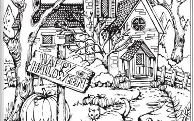Free Happy Halloween Coloring Page