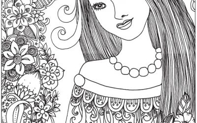 Free Coloring – Flower Girl