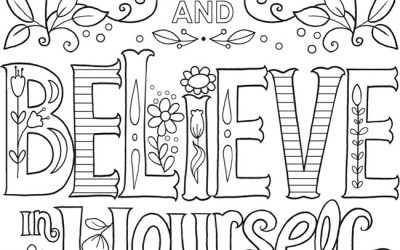 Free Believe Coloring