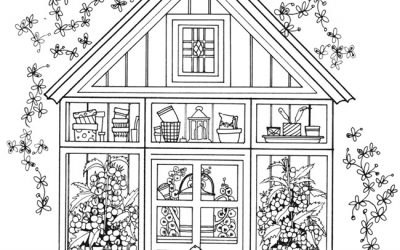 Free Greenhouse Garden Coloring
