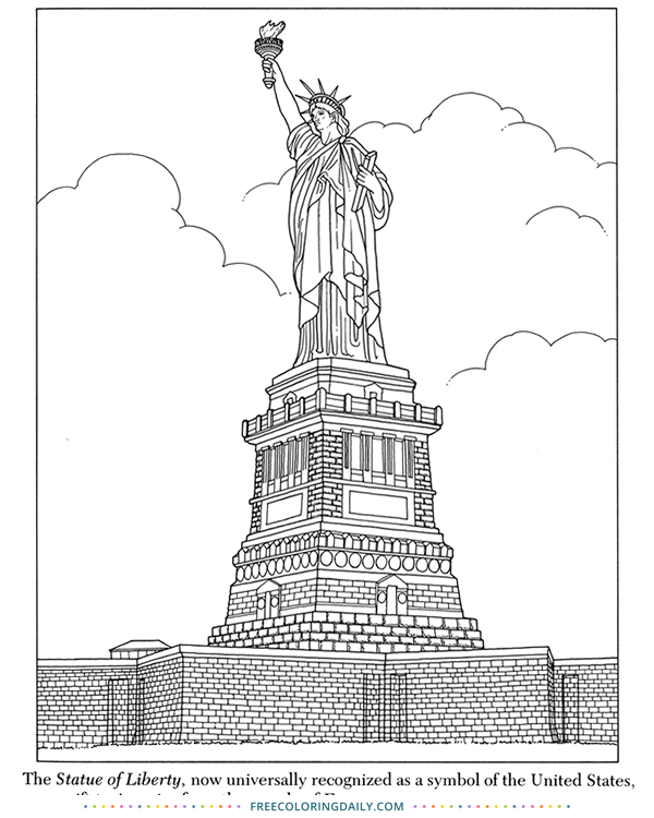 Free Statue of Liberty Coloring