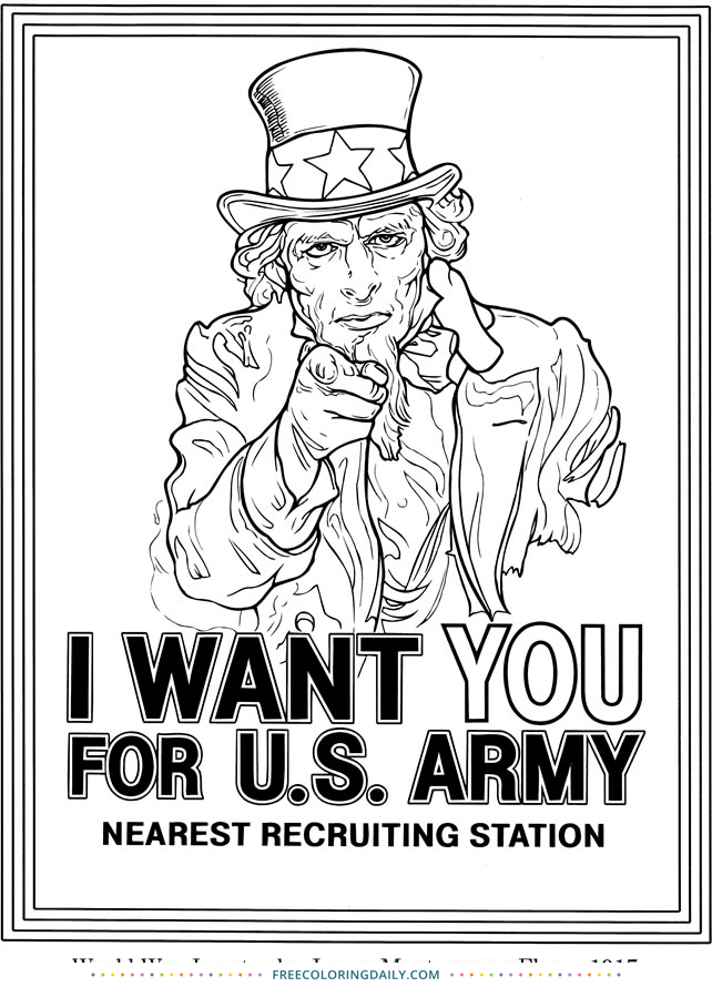Free Uncle Sam Coloring