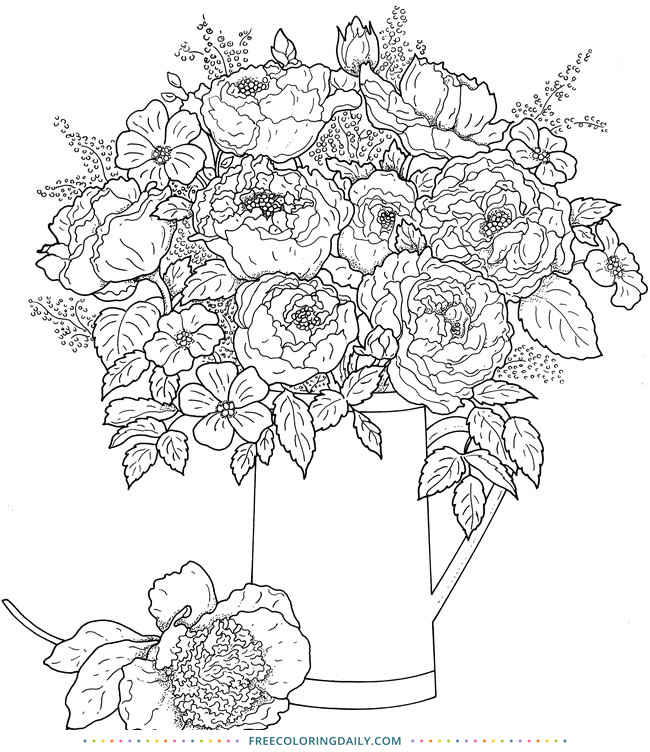 Free Coloring Page of Flowers