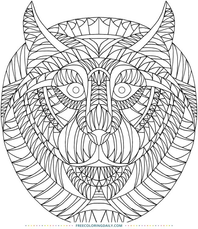 Free Animal Pattern Coloring