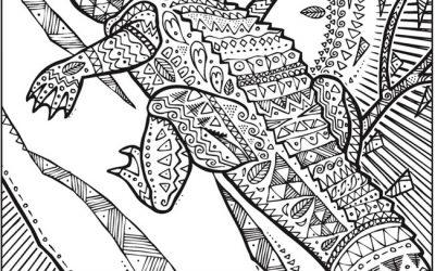 Free Patterned Alligator Coloring