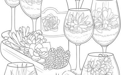 Free Succulent Coloring