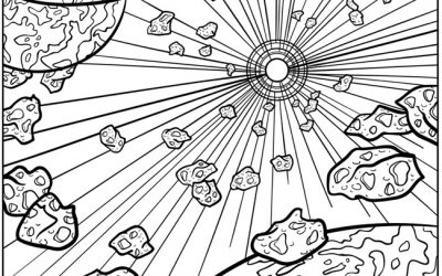 Free Space Coloring Page
