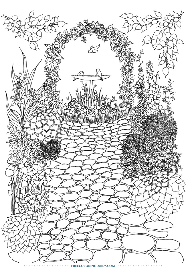 Free Pathway Coloring page