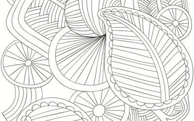 Free Modern Leaf Coloring Page