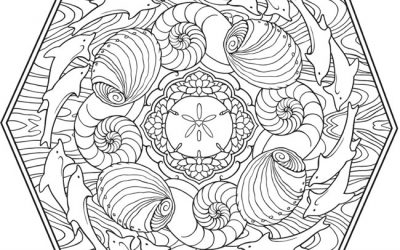 Free Seaside Coloring Mandala