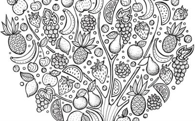 Free Fruit Tree Coloring Page