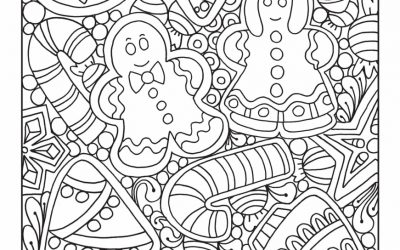 Cute Gingerbread Coloring Page