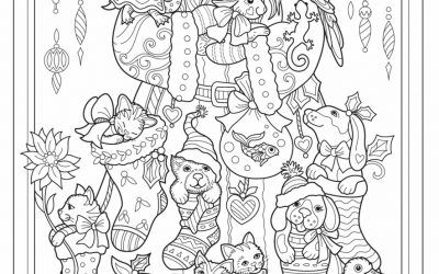 Free Santa's Stockings Coloring
