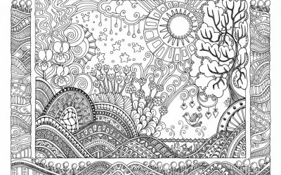 Free Zentangle Scene Coloring