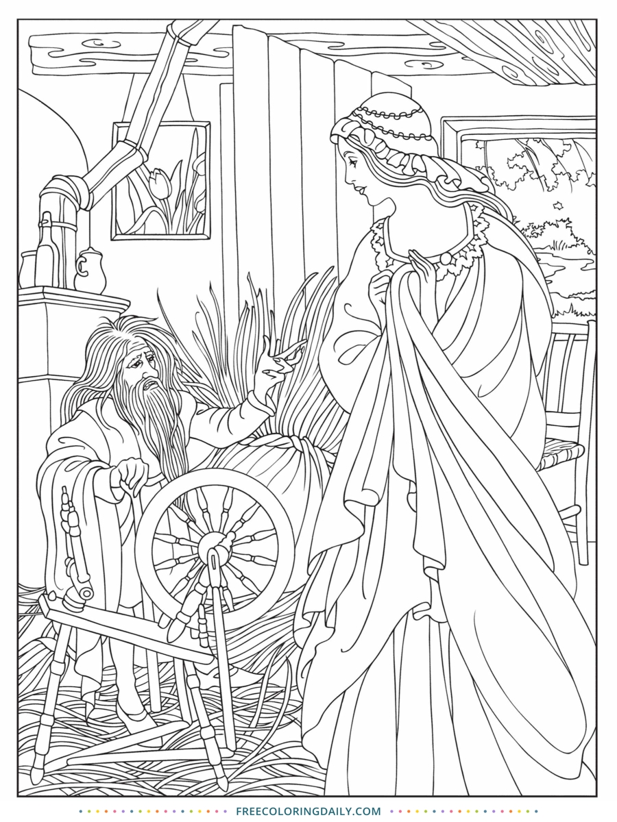 Free Classic Coloring Page