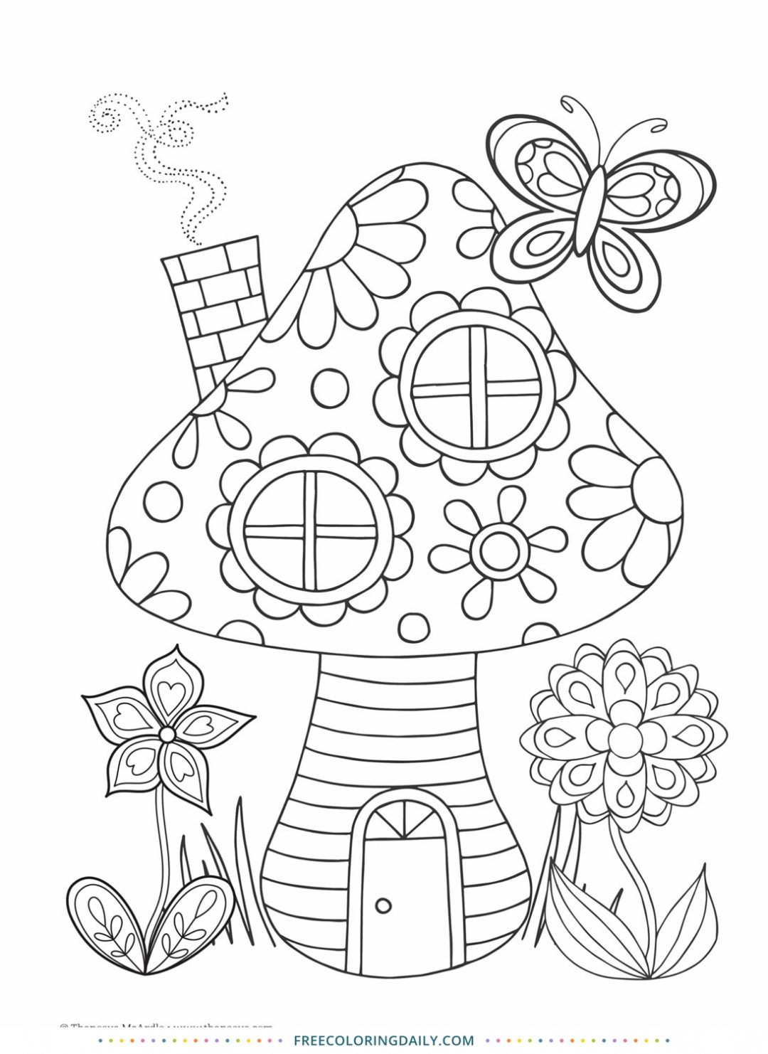 Free Fairy House Coloring