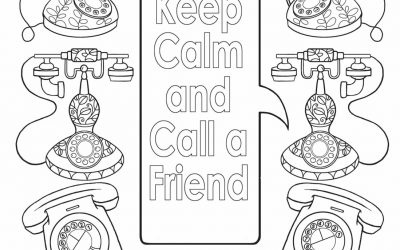 Free Phone Coloring Page