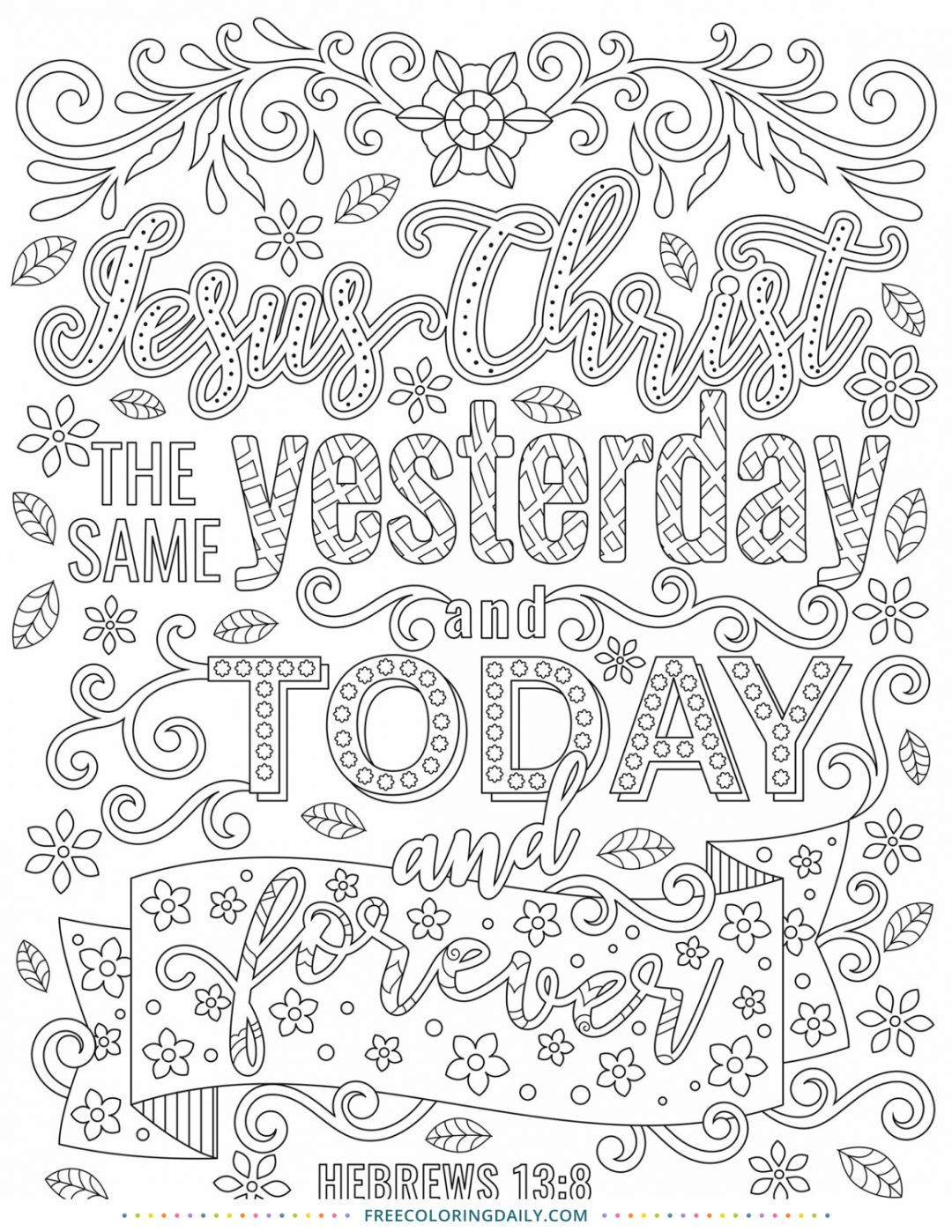 Free Religious Coloring Quote