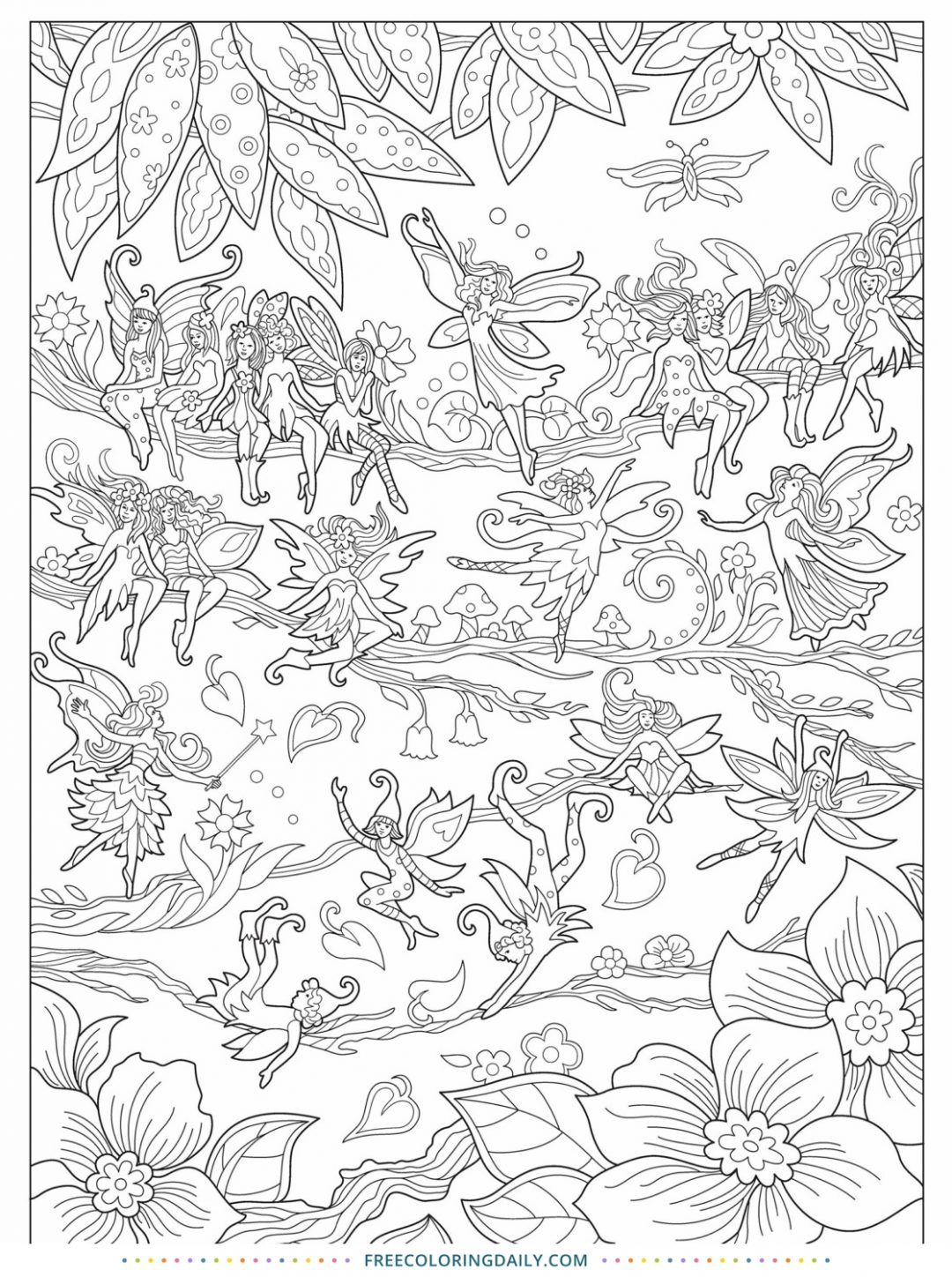 Free Sweet Fairy Coloring