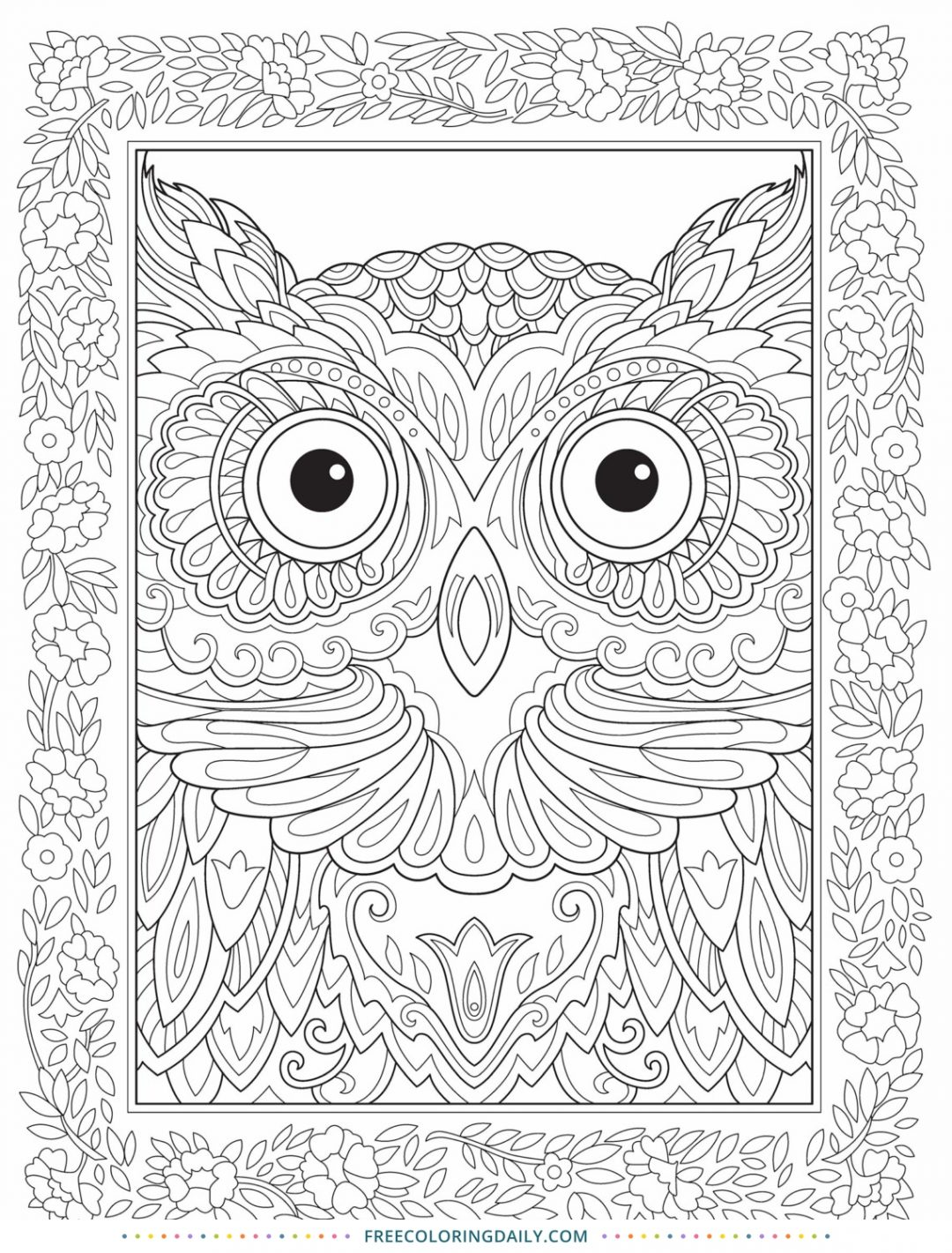 Free Amazing Owl Coloring Page