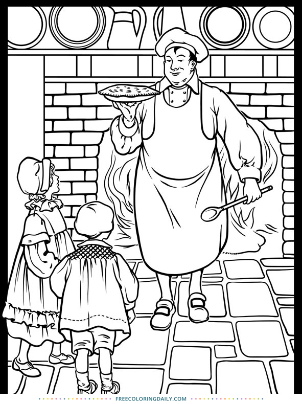 Free Nursery Rhyme Coloring Page