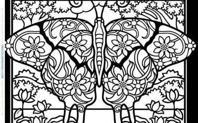 Butterfly Stained Glass Coloring