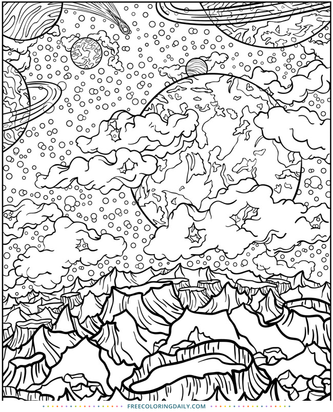 Free Space Planet Coloring