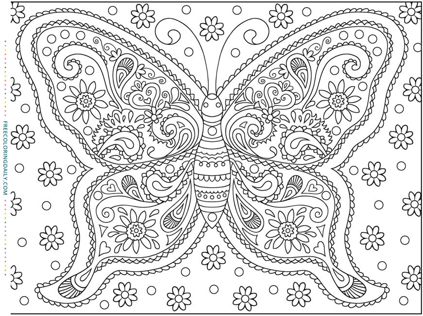 Free Fantastic Butterfly Coloring