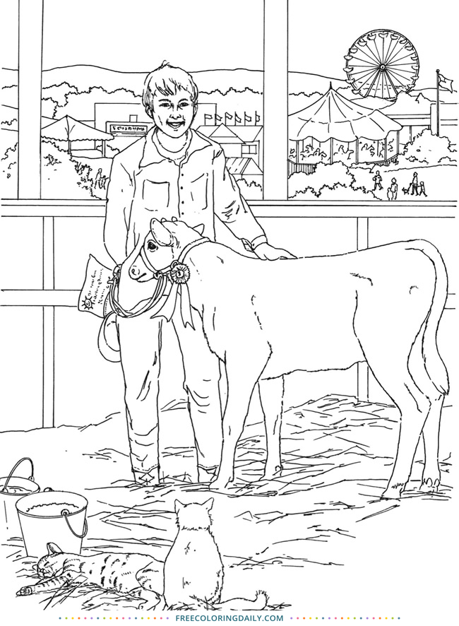 Free Farmer Coloring Page