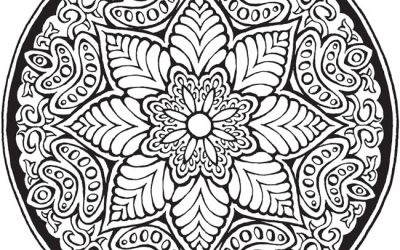 Free Stained Glass Mandala Coloring