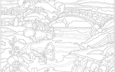 Free Outdoor Coloring Scene
